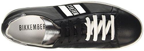 Bikkembergs Words 889, Sneaker a Collo Basso Donna Nero (Black/Silver)