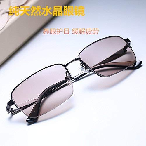 East China Sea natürlichen Kristallfelsen Sonnenspiegel männlich die Kristall Sonnenbrille Fahren bequem Jian Yue ist frisch und cool, um EIN Auge zu behalten, um die Augen der Brille zu sch