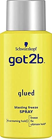 Schwarzkopf got2b Glued Blasting Freeze Spray Hairspray, 100 ml, Pack of 12