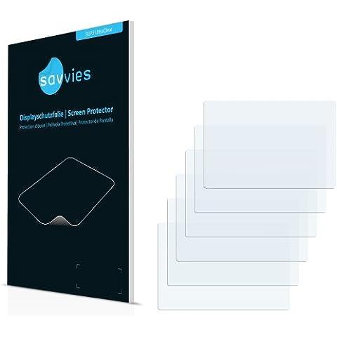 6x Savvies Protector Pantalla para GoPro Hero 4 Black LCD Touch BacPacProtector Transparente