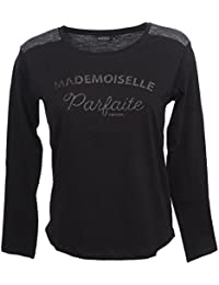 Kaporal 5 Ayou Black ML Tee Girl - Tee Shirt Manches Longues