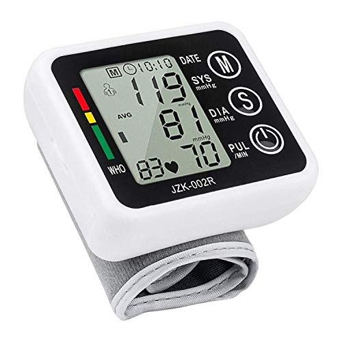 ORPIO Wrist Blood Pressure Monitor Cuff Automatic Pulse and Heartbeat Monitors with Digital LCD Display for Home