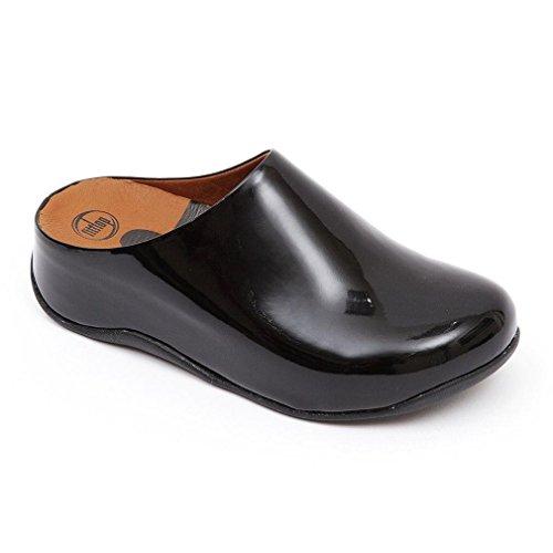 FitFlop Aventu Chaussures Brevet Noir Nero