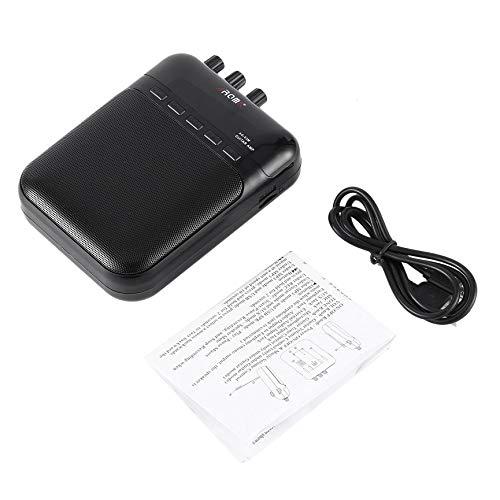 VCB Aroma AG-03M 5W Gitarren-Bassverstärker-Verstärker-Recorder USB-wiederaufladbarer Lautsprecher - Schwarz