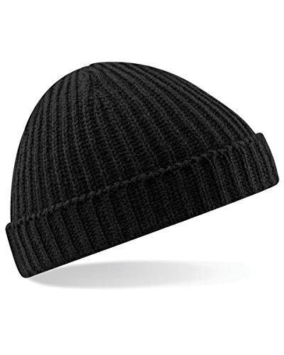 cd73dbecc5d Beechfield Unisex Retro Trawler Winter Beanie Hat Baseball Cap