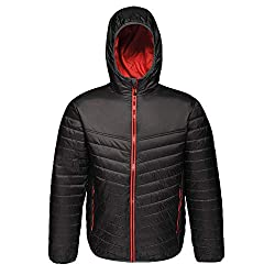 Regatta Herren Professional Acadia II Water Repellent Warmloft Down-Touch Compressible Hooded Jacket Jacke, Black (Red), m