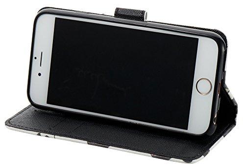 [Coque Iphone 6 Plus silicone/Coque Iphone 6S Plus silicone] Nnopbeclik Mode Folio Wallet/Portefeuille en Bonne Qualité PU Cuir Housse pour Iphone 6 Plus Coque silicone/Iphone 6S Plus Coque Apple (5.5 milk