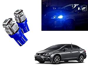Auto Pearl - LED Parking Bulb Pilot Light/Daytime Running Lens Led Light T10 Blue (3W) For - Honda_Civic