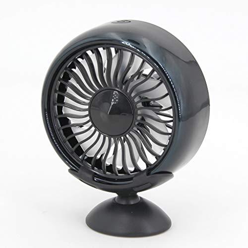 Ycncixwd Elektroauto Fan 360 Grad Drehbar 3 Einstellbare Geschwindigkeit Dual Head Auto Auto Kühlung Umluftventilator mit Basis für Van SUV RV Boot Auto (Boot-gummi-fuß-abdeckung)