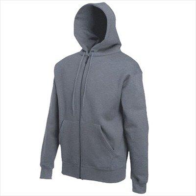 Zip-jacke Charcoal (Fruit of the Loom - Kapuzen Sweat-Jacke 'Hooded Zip' XXL,Charcoal)