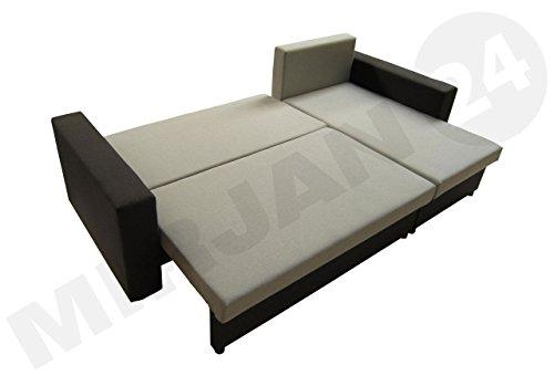Ecksofa Top Lux! Sofa Eckcouch Couch! mit Schlaffunktion und zwei Bettkasten! Ottomane Universal, L-Form Couch Schlafsofa Bettsofa Farbauswahl (Soft 011 + Lawa 06) - 3