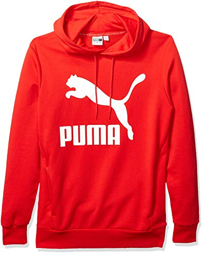 Puma Herren Classics Logo Hoody Kapuzenpulli, High Risk Red, Klein Classic Logo Hoody