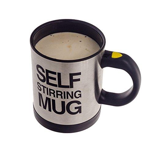 Smartfox selbstrührender Kaffeebecher Thermobecher Tasse inkl. Deckel mit Trinköffnung Self Stiring - Tasse Mikrowelle Milch