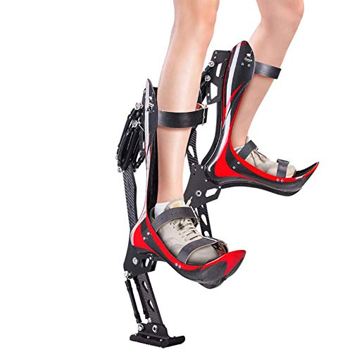 Instag Bouncing Jumping Stilts Shoes Uomo Donna Fitness Exercise Fun Sport Fibra di Carbonio Anti-Gravity Running Strap Regolabili,70~90KG