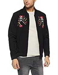 Jack & Jones Mens Jacket (5713618640975_12129049Black_Large)