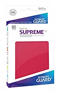 Ultimate Guard ugd010563 - Supreme UX Sleeves, tamaño estándar, Mate Rojo