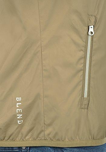 Blend Zubaru Herren Windbreaker Regenjacke Übergangsjacke Mit Kapuze, Größe:M, Farbe:Safari Brown (75115) - 4