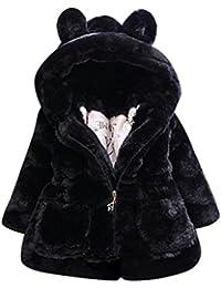 Manteau à capuche Bébé Fille Hiver Chaud Fourure Ultra Épais Longra Oreilles de lapin Forme Vêtements d'extérieur Parka Doudoune Cape Teddy Blouson à fermeture éclair Enfant