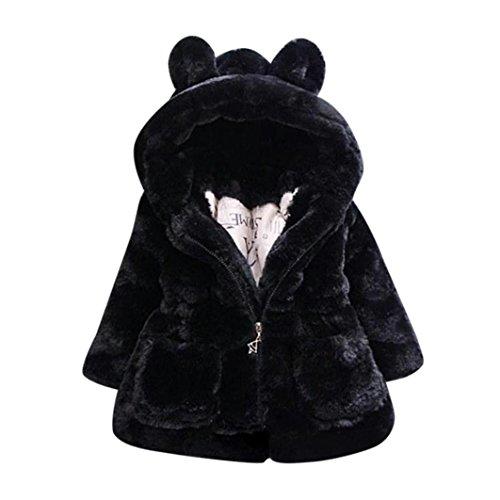 Manteau à capuche Bébé Fille Hiver Chaud Fourure Ultra...