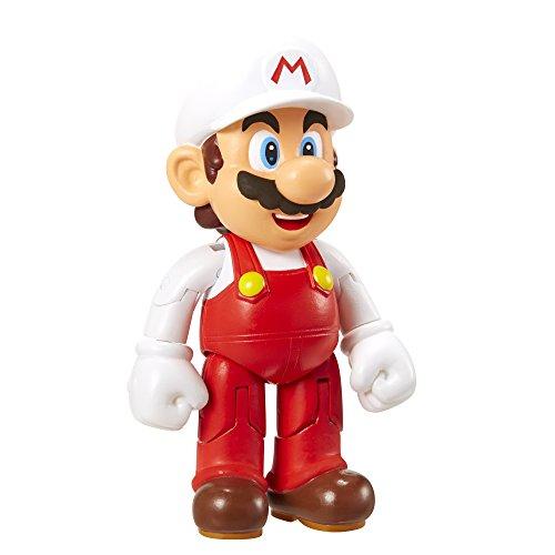 Nintendo - Figura Mario Con Fire Flower, 10 cm