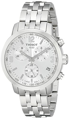 Tissot Herren T0554171103700PRC200Analog Armbanduhr Display Silber Quarz