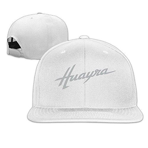 huseki-pagani-huayra-cotton-flat-bill-baseball-cap-snapback-hat-unisex-white