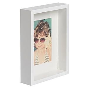 empresas envios internacionales: BD ART 15 x 21 cm Box Marco de Fotos con Paspartu 10 x 15 cm, Blanco