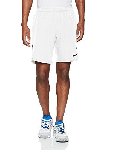 Nike M NKCT FLX Ace Short 9IN Shorts de Tenis, Hombre, White Black, S