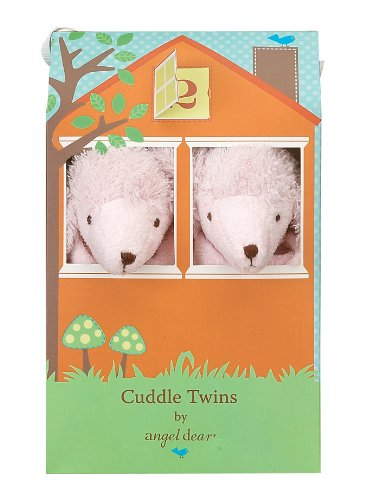 Angel Dear Baby Blankie Cuddle Twin Set-Pink Poodle