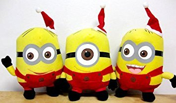 Despicable Me Huggable Plus RED / Yellow Minion Stuart Plush Teddy Bear Stuffed Soft toys for kids best for gift (35cm)