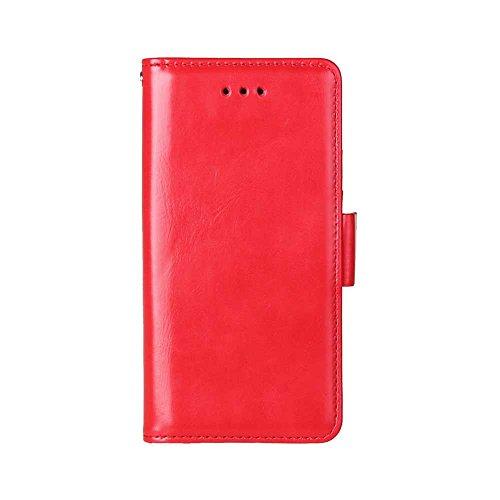 Coque Apple iPhone 6 / 6s, Etui iPhone 6 / 6s, SHIELDON Housse Portefeuille, Flip Wallet Cover pour Apple iPhone 6 / 6s, en PU Cuir, avec Rangements de Cartes, Rabat Magnétique, Support Intégré - Cogn Rouge