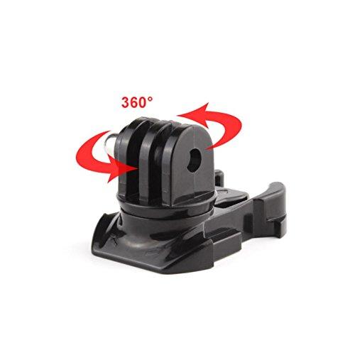 MadridGadgetStore® Soporte Adaptador Hebilla Base de Montaje Giro 360 Grados 360º para...