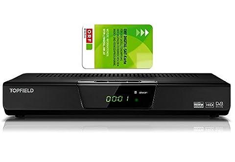 Pot de TF de S3000rhd Récepteur satellite numérique HD + Carte ORF et câble HDMI