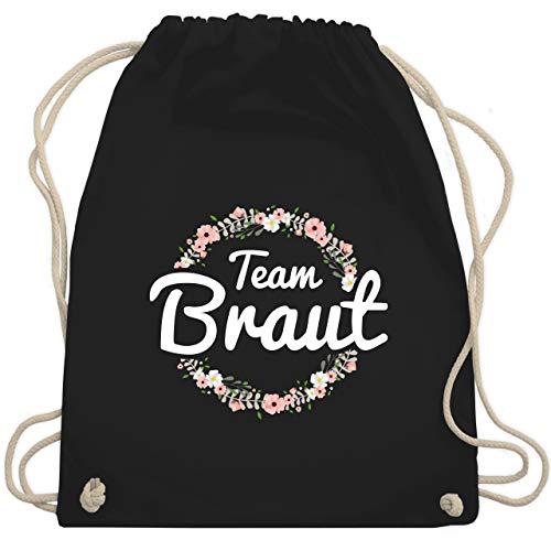 bschied - Team Braut Blumenkranz - Unisize - Schwarz - WM110 - Turnbeutel & Gym Bag ()