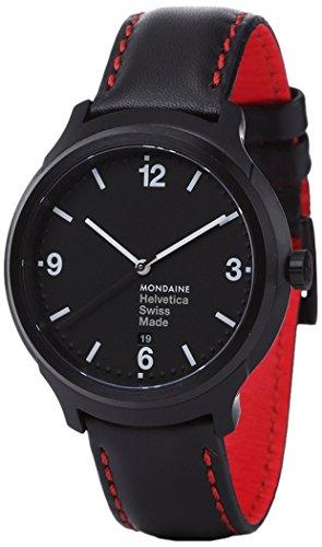 Mondaine MH1B1221LB - Reloj de pulsera hombre, color Negro