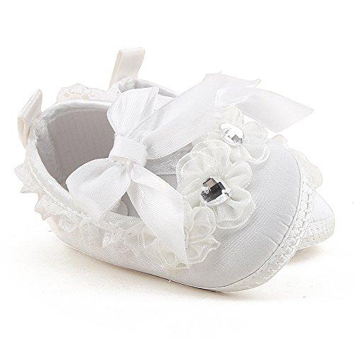 f6a4efb231881 ... da Culla Neonato Bianco Primi Passi Scarpe Neonata Ballerine Pantofole  Morbide Bimba (Scarpe Bavaglini