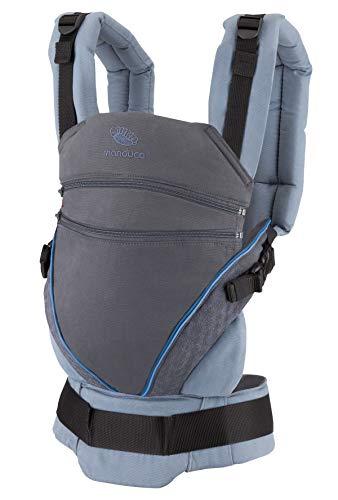 manduca Babytrage XT > Limited Edition < Ergonomische Babytrage und Neugeborenen-Trage, Bio-Baumwolle, Verstellbarer Sitz, für Babys & Kinder von 3,5 bis 20 kg (XT Limited Edition, SparklingBlue)