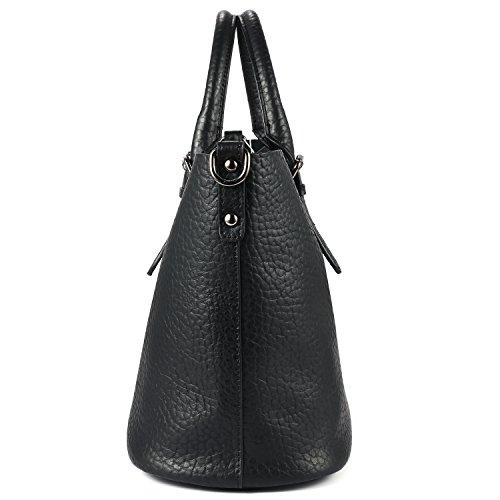 Kattee, Borsa a spalla donna nero Black small Black (Elephant Grain)