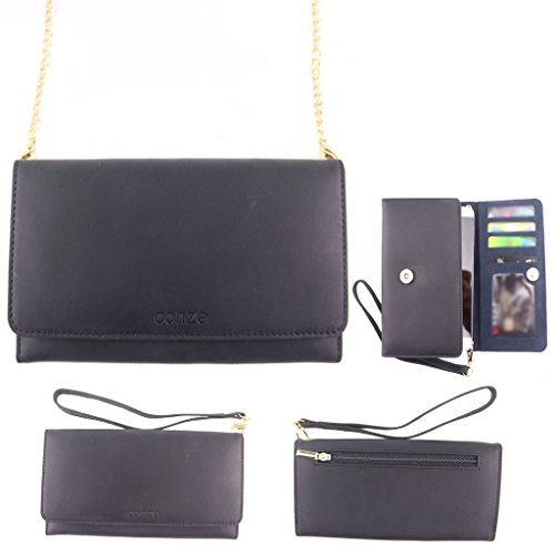 conze-high-quality-genuine-leather-purse-wallet-phone-case-with-cross-body-strap-fits-huawei-ascend-