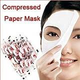 SODIAL (R) 100 pz pelle cura DIY maschera di bellezza compressa fronte carta facciale
