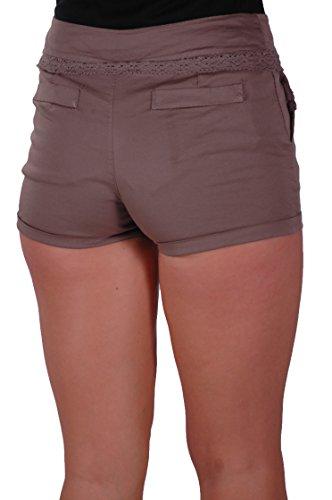 EyeCatch - Short moulants slim en coton - Femme Moka