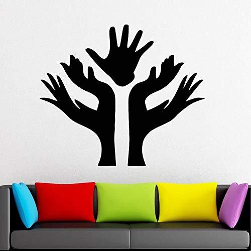 guijiumai Palm Tree Branch Wandaufkleber Schlafzimmer Vinyl Wandtattoos Dekoration Zubehör Für Wohnzimmer Klassenzimmer Dekoration75X86CM