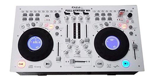 Ibiza FULL-STATION-WH - Mesa de mezclas para DJ, color blanco
