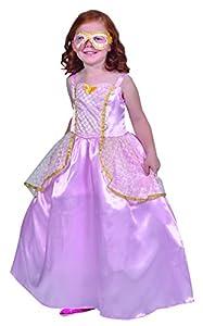 César - F275-003 - Princesa Costume con ventilador y Loup Para Niños - 8-10 Años