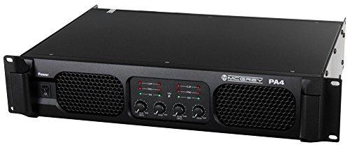 McGrey PA4-1200 DJ PA Verstärker Endstufe 4x 1200 Watt (Brückbar, XLR-Line Eingänge, Speakon-kompatible Leistungs-Ausgänge, Frequenzgang 20-20,000Hz) schwarz