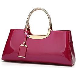 DEERWORD Para mujer Carteras de mano Bolsos bandolera Bolsos bolera Bolsos maletín Cuero Rosa Roja