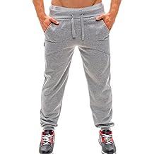 Xinantime_Pantalones de hombre Hombre Pantalones Largos Chándal Jogging Pantalones Deportivos Aptitud Sweatpants… Z2g07B6