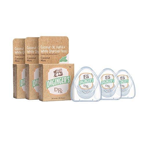 Dr. Ginger aceite dental de coco y carbón vegetal totalmente natural: poderosa combinación de aceite de coco orgánico, xilitol y carbón vegetal de limpieza profunda - excelente sabor, sin productos q