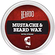 Beardo Beard and Mustache Wax - Extra Strong 50 gm