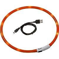 Karlie Visio Light Led Schlauchhalsband 70 cm, universell kürzbar, orange